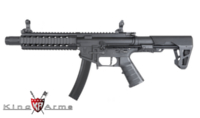 King Arms PDW 9mm SBR Long AEG Rifle (Black)