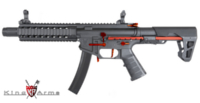 King Arms PDW 9mm SBR Long AEG Rifle (Red, Black)