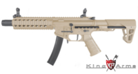 King Arms PDW 9mm SBR Long AEG Rifle (Dark Earth)