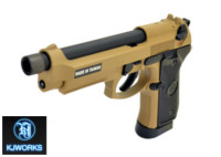 KJ WORKS M9A1 Metal Slide 6mm CO2 Pistol (Tan)