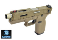 KJ Works KP-13F Full Auto Metal Slide GBB Pistol (Tan)