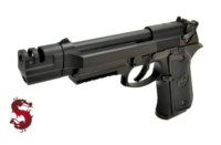 LS M9 GBB Pistol with Alloy Tactical Head (Black)