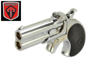 Maxtact Alloy American Derringer Double Barrel Gas Pistol-Silver