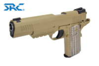 SRC SR45A1 M45A1 CQBP GBB CO2 Pistol (Dark Earth , 6mm)