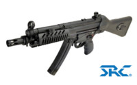 SRC SR5 TAC-A2 MP5 CO2 SMG Rifle (Black)