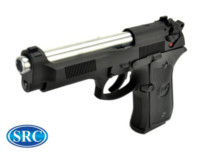 SRC Alloy SR92 ELITE II M92 GBB Pistol (Black and Silver)
