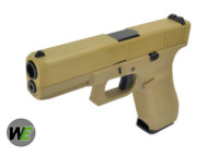 WE G17 Alloy Silde Gen5 GBB Pistol (Tan)