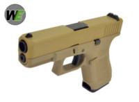 WE Gen5 Alloy Slide G19 GBB Pistol (Tan)