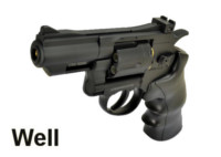 Well G296A 6mm CO2 Swing Out Revolver (Black)