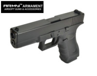 Army G17 Gen 4 GBB Pistol (Black , No marking)