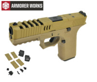 Armorer works VX7211 GBB Pistol with Dummy Sight and base(Tan)