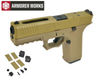 Armorer works VX7311 GBB Pistol with Dummy Sight and base(Tan)