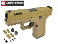 Armorer works VX9111 GBB Pistol with Dummy Sight and base(Tan)