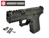 Armorer works VX9210 GBB Pistol with Dummy Sight and base(Black)
