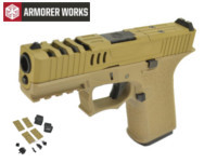Armorer works VX9211 GBB Pistol with Dummy Sight and base(Tan)