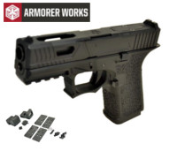 Armorer works VX9310 GBB Pistol with Dummy Sight and base(Black)