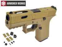 Armorer works VX9311 GBB Pistol with Dummy Sight and base(Tan)
