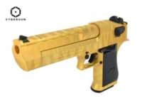Cybergun MRI Desert Eagle .50 AE Gold Tiger Stripes GBB Pistol