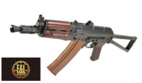 E&L AKS74UN AEG Rifle with Real Wood handguard (Black)