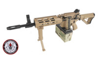 G&G CM16 LMG DST AEG Rifle (Dark Earth)