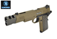 KJ WORKS competition style M45 KP-16 GBB Pistol (Tan)