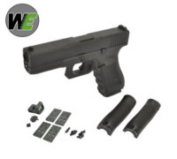 WE G17 GEN4 GBB Pistol with Dummy Sight and base (Black)