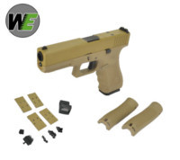 WE G17 GEN4 GBB Pistol with Dummy Sight and base (Tan)
