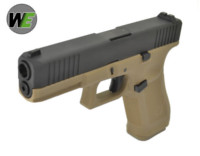 WE G17F Gen5 France Style GBB Pistol (Tan Frame, Black Slide)