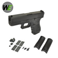 WE G19 Gen4 GBB Pistol with Dummy Sight and base (Black)