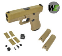 WE G19X Gen5 GBB Pistol with Dummy Sight and base (Tan)