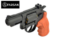 Farsan .357 2.5 Inch 6mm CO2 Revolver (Black, Imitation wood)