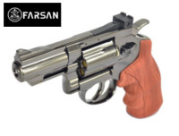 Farsan .357 2.5 Inch 6mm CO2 Revolver (Bronze, Imitation wood)