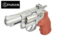 Farsan .357 2.5 Inch 6mm CO2 Revolver (Silver , Imitation wood)