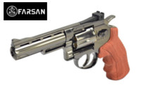 Farsan .357 4 Inch 6mm CO2 Revolver (Bronze , Imitation wood)