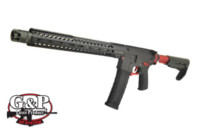G&P 15.5 inch MWS Strike Tactical GBB Rifle (Red , Cerakote)