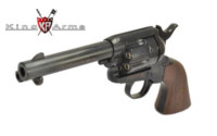 King Arms S Style CUSTOM SAA .45 Gas Revolver (Black)