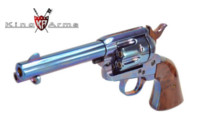 King Arms S Style CUSTOM SAA .45 Gas Revolver (Bluing)
