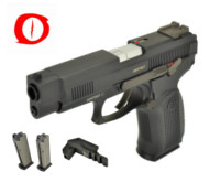 Raptor Grach MP-443 Deluxe Version GBB Pistol (Black)