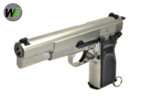 WE Hi-Power Browning MK3 GBB Pistol (Silver)