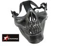 EAiming Skeleton Half face Mask (Silver FG)