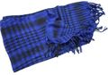 EAIMING Shemagh Arab Checker Scrim Scarf (Black & Blue)