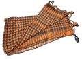 EAIMING Shemagh Arab Checker Scrim Scarf (Black & ORANGE)