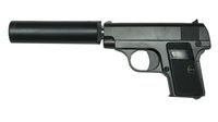 CAL-6mm ZINC Metal Spring gun Pistol with Silencer (G.1A)