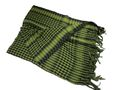 EAIMING Shemagh Arab Checker Scrim Scarf (Black & Foliage Green)