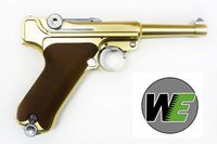 "WE Luger P08 4"" SILVER Full Metal GBB Pistol (Golden)"