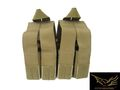 FLYYE MOLLE Double M4 + Quad Pistol Mag Pouch (OD)