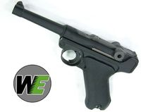 "WE Luger P08 4"" Full Metal GBB Pistol (BK)"