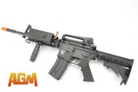 AGM Metal Gear Box M4A1 Airsoft AEG With Battery & Grip