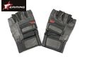 EAIMING Half Finger Leather Padded Palm Assault Gloves -Black