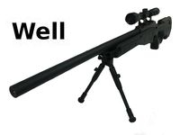 WELL L96 MB01D Bolt Action Sniper rifle with Scope and Butt(BK)